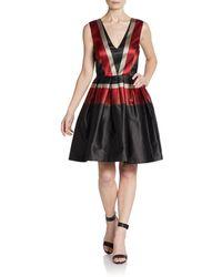 Zac Zac Posen Striped Taffeta Cocktail Dress - Lyst