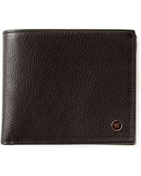 Canali Contrasting Interior Fold Over Wallet - Black