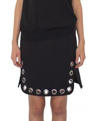 Paco Rabanne | Black Skirt With Studs Detail | Lyst