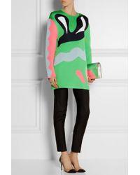 Issa Suki Stretch-Knit Jacquard Sweater - Lyst