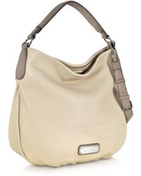 Marc By Marc Jacobs New Q Hillier Sand Leather Hobo - Lyst