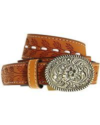 Asos Western Buckle And Whip Stitch Detail Waist Belt - Lyst