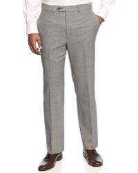 Lauren by Ralph Lauren Check 100% Wool Flat-Front Dress Pants Big And Tall - Lyst
