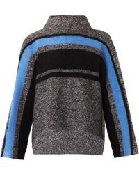 Tibi Striped Wool Sweater - Lyst