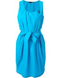 Love Moschino Tie-Waist Cotton Dress - Lyst