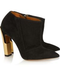 Calvin Klein - Nara Suede Ankle Boots - Lyst