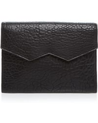 Facine Clutch - Oversized Colorblock - Black