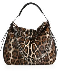 Jimmy Choo Spotted Calf Hair Leather Hobo - Lyst