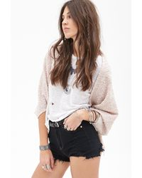 Forever 21 Sequined Knit Dolman Cardigan - Lyst