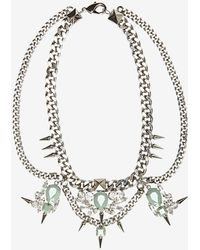 Fallon Jewelry Multi Drop Crystal Link Necklace - Lyst