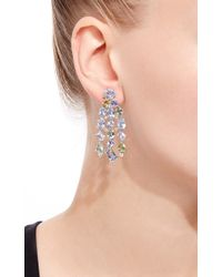 Gioia - Blue & Green Sapphire And Diamond Drop Earrings - Lyst