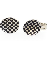 Duchamp | Contrast Dotted Cuff Links | Lyst