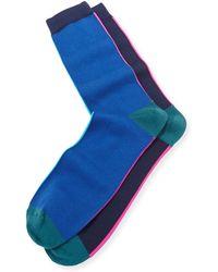Paul Smith Vertical-neon Socks - Lyst