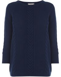 Oasis Textured Cotton Waffle Jumper - Lyst