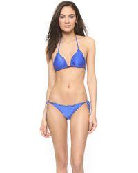 ViX Undersea Ripple Bikini Top - Blue Undersea - Lyst
