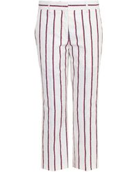 Etoile Isabel Marant Jacob Striped Cropped Trousers - Lyst
