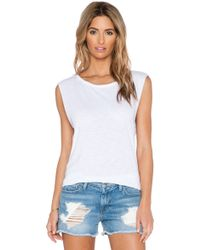 Feel The Piece X Tyler Jacobs Cut Off Tank - White