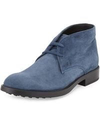 Tod's Esquire Suede Boot - Lyst