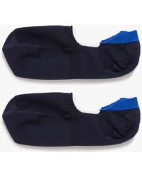 Mr Gray Loafer Sock Solid In Navy Blue blue - Lyst