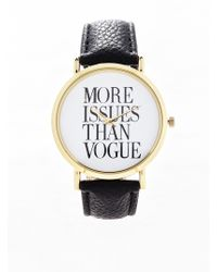 Forever 21 - Faux Leather Statement Watch - Lyst