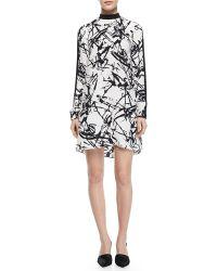 A.L.C. Isley Printed Mockneck Dress - Lyst