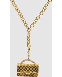 Chanel Necklace gold - Lyst