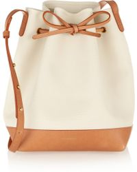 Mansur Gavriel Canvas And Leather Bucket Bag - Lyst