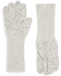 Rag & Bone 'catherine' Cashmere Gloves - Gray
