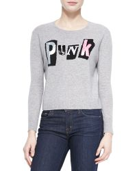 Autumn Cashmere Cashmere Sequined Punk Sweater - Lyst