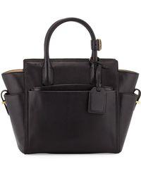 Reed Krakoff Atlantique Mini Leather Tote Bag black - Lyst