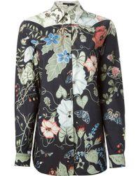 Gucci Flora Knight Print Straight Shirt - Lyst