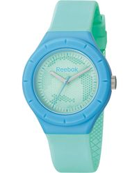 Reebok Women'S Warm Up Camo Turquoise Polyurethane Strap Watch 38Mm Rf-Twc-L2-Plpt-Tl - Green