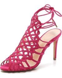 Alexandre Birman Suede Sandals - Pink - Lyst