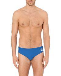 Robinson Les Bains Yale Swim Trunks Blue - Lyst