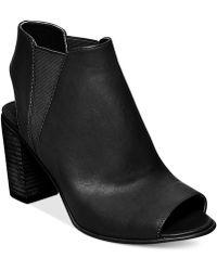 Steve Madden Women'S Nobel Block Heel Sandals black - Lyst