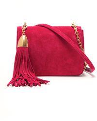 Nina Ricci Suede Tassel Clutch - Pink