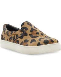 Steve Madden Ecentric Leopard Print Slip On Trainers Leopardpony - Lyst