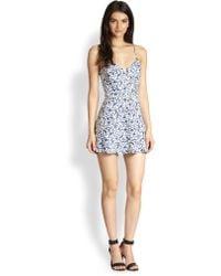 Parker Juliet Printed Stretch Cotton Dress - Lyst