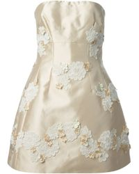 Dolce & Gabbana Embroidered Flowers Dress - Lyst