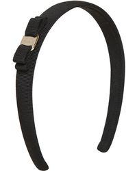Ferragamo Black Grosgrain Headband - Lyst