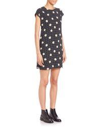 Saint Laurent | Daisy & Polka Dot-print Shift Dress | Lyst