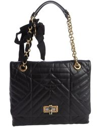 Lanvin Quilted Calfskin Leather Medium Happy Shoulder Bag - Lyst