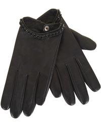 BCBGMAXAZRIA - Whipstitch Chain Leather Gloves - Lyst