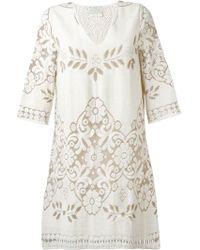 Forte Forte | Floral Embroidered V-neck Dress | Lyst