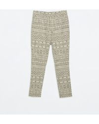 Zara Ethnic Jacquard Trousers - Lyst