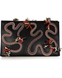 Stella McCartney Rope-embroidered Faux Leather Clutch - Lyst