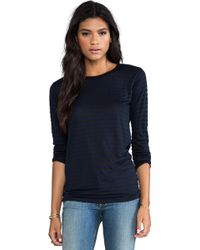 The Lady & The Sailor - Boxy Long Sleeve in Navy - Lyst