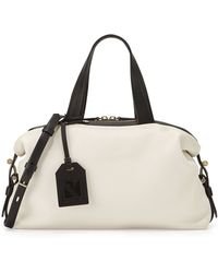 Reed Krakoff Altas Mini Colorblock Leather Satchel Bag white - Lyst
