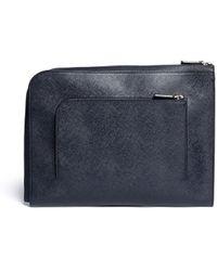 Giorgio Armani - Saffiano Leather Document Case - Lyst