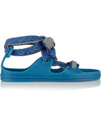 Acne Studios - Milo Lace-Up Rubber Sandals - Lyst